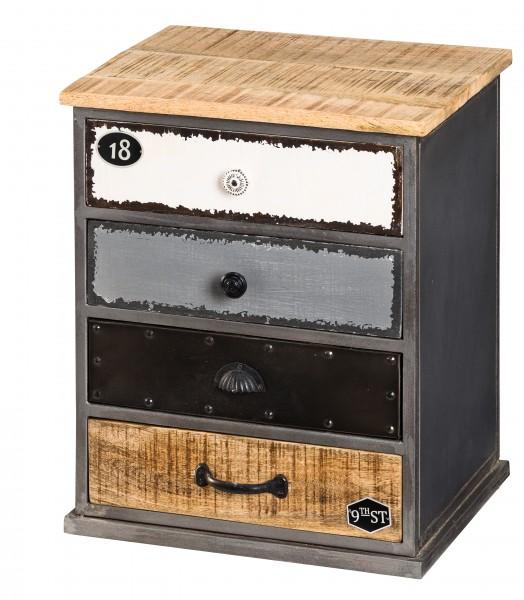 metallschrank mit 4 schubladen im zauberst bchen online shop f r wohnaccessoires und m bel. Black Bedroom Furniture Sets. Home Design Ideas